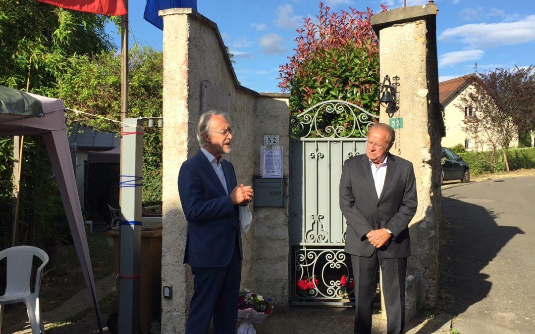Villennes : le 80e anniversaire de l'appel du 18 juin a été célébré par des candidats à la mairie