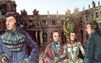 La bande dessinée raconte le château de Versailles