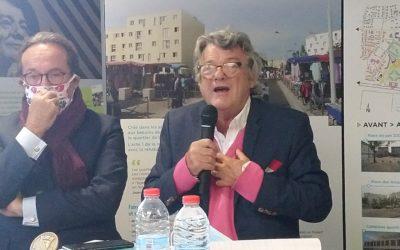 Jean-Louis Borloo ainauguré la Maison du projet de rénovation urbaine àChanteloup-les-Vignes