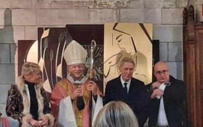 Bénédiction par l'évêque de Versailles du nouveau tabernacle de l'église Saint-Pierre-Saint-Paul des Mureaux