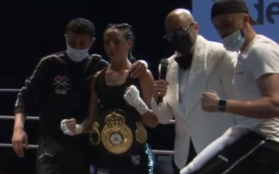 Rima Ayadi au sommet de son art avec la ceinture WBA