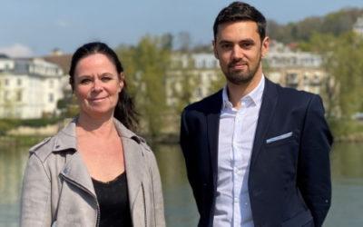Gwenaële Guillo et Boris Venon, candidats sur les deux rives du Canton des Mureaux