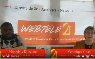 Zoom 2R: Hippolyte Djizanne et Véronique Civel, candidats (SE) dans le canton de Conflans