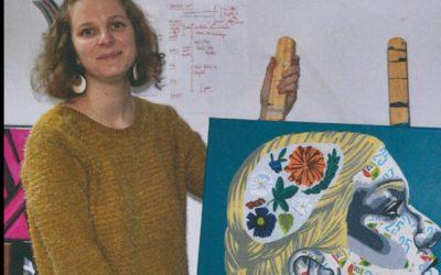Exposition «Femmes de lettres» dans l'univers onirique d'Annabelle Amory, peintre collagiste conflanaise