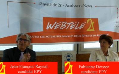 Zoom 2R: Jean-François Raynal et Fabienne Deveze, candidats EPY dans le canton de Verneuil-sur-Seine