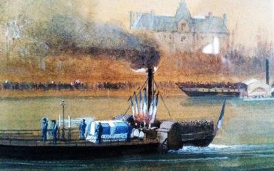 La dernière traversée, fluviale, de notre territoire par l'empereur Napoléon Ier