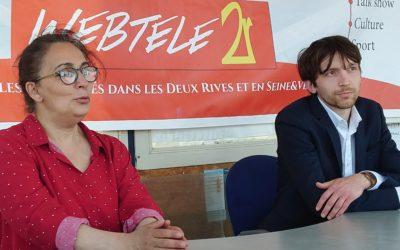 Zoom 2R : Mouni Coudoux et Alexandre Garcia, candidats de la liste Ecologie-Social-Solidarité dans le canton de Conflans