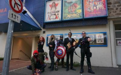 Une association de cosplayers a animé une séance du film Black Widow au cinéma des Mureaux