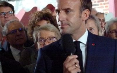 Le président de la République en visite au musée Dreyfus, à Médan, pour son inauguration